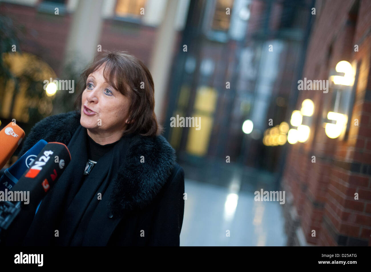 German Federal Minister of Justice, Sabine Leutheusser-Schnarrenberger (FDP) joins the FDP-Presidium meeting in - Stock Image