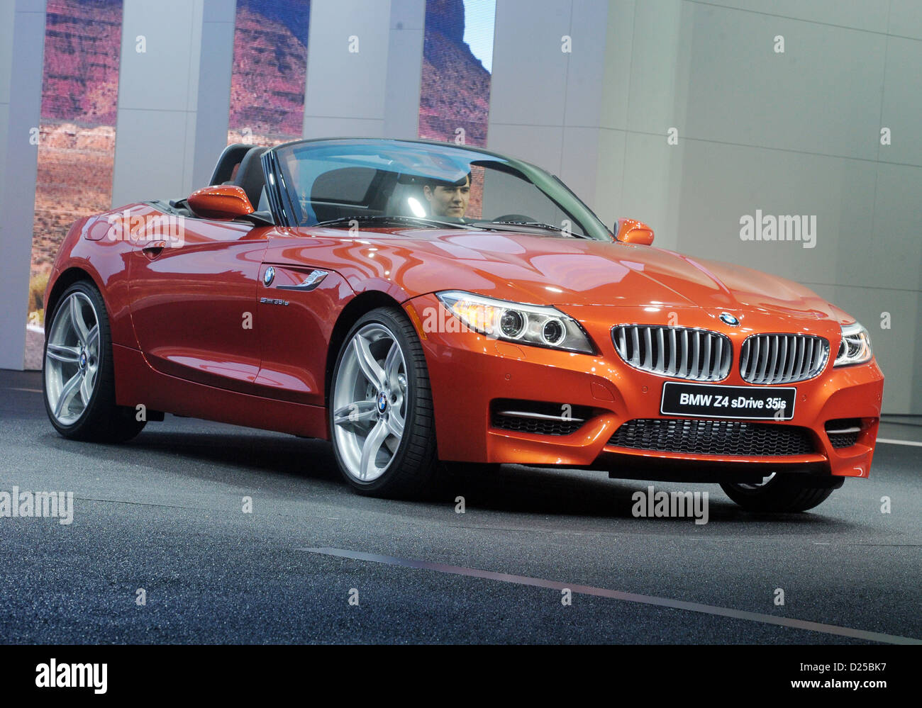 BMW Z4 is unveiled on the first press day of the North American International Auto Show (NAIAS) in Detroit, USA, - Stock Image