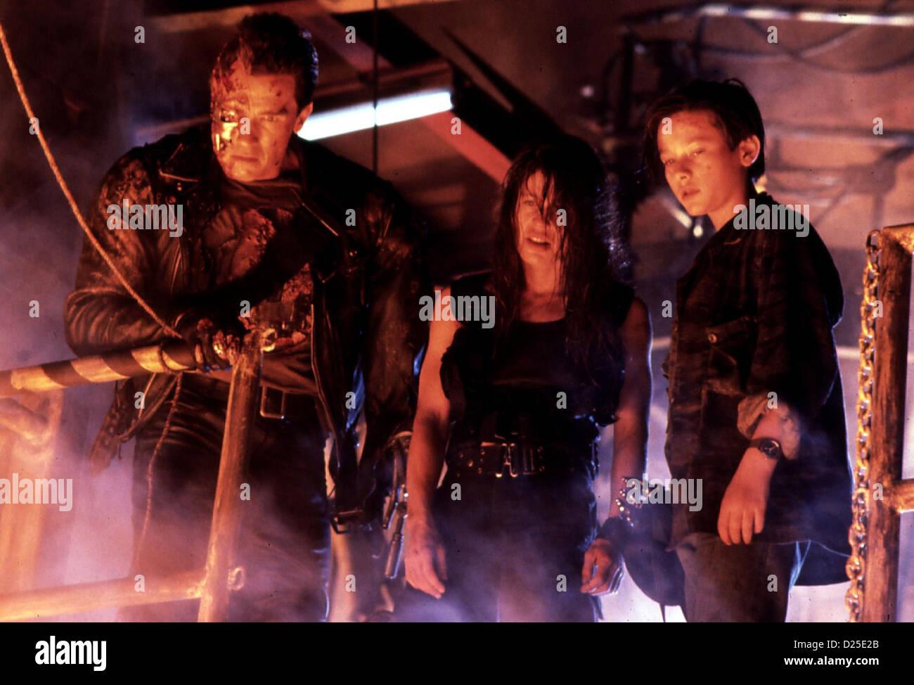 Terminator Ii - Tag Der Abrechnung  Terminator 2: Judgement Day  Arnold Schwarzenegger, Linda Hamilton, Edward Furlong - Stock Image
