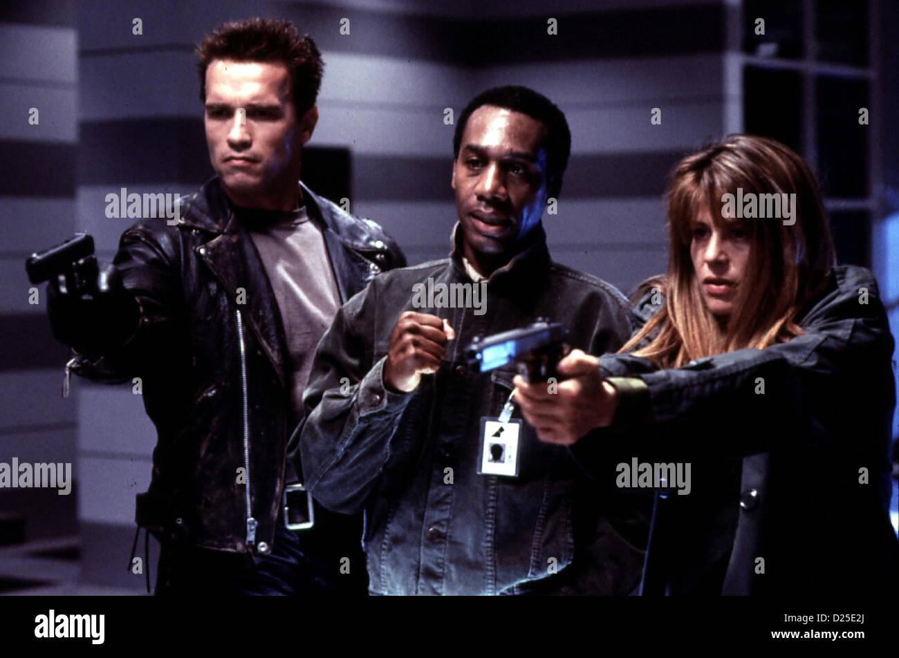 Terminator Ii - Tag Der Abrechnung  Terminator 2: Judgement Day  Arnold Schwarzenegger, Joe Morton, Linda Hamilton - Stock Image