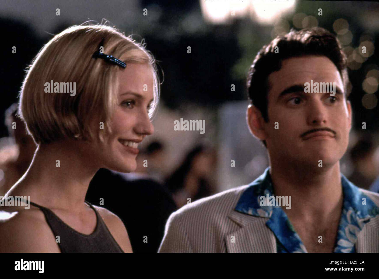 Verrueckt Nach Mary  There's Something About Mary  Cameron Diaz, Matt Dillon Pechvogel Ted Stroehmann beauftragt - Stock Image