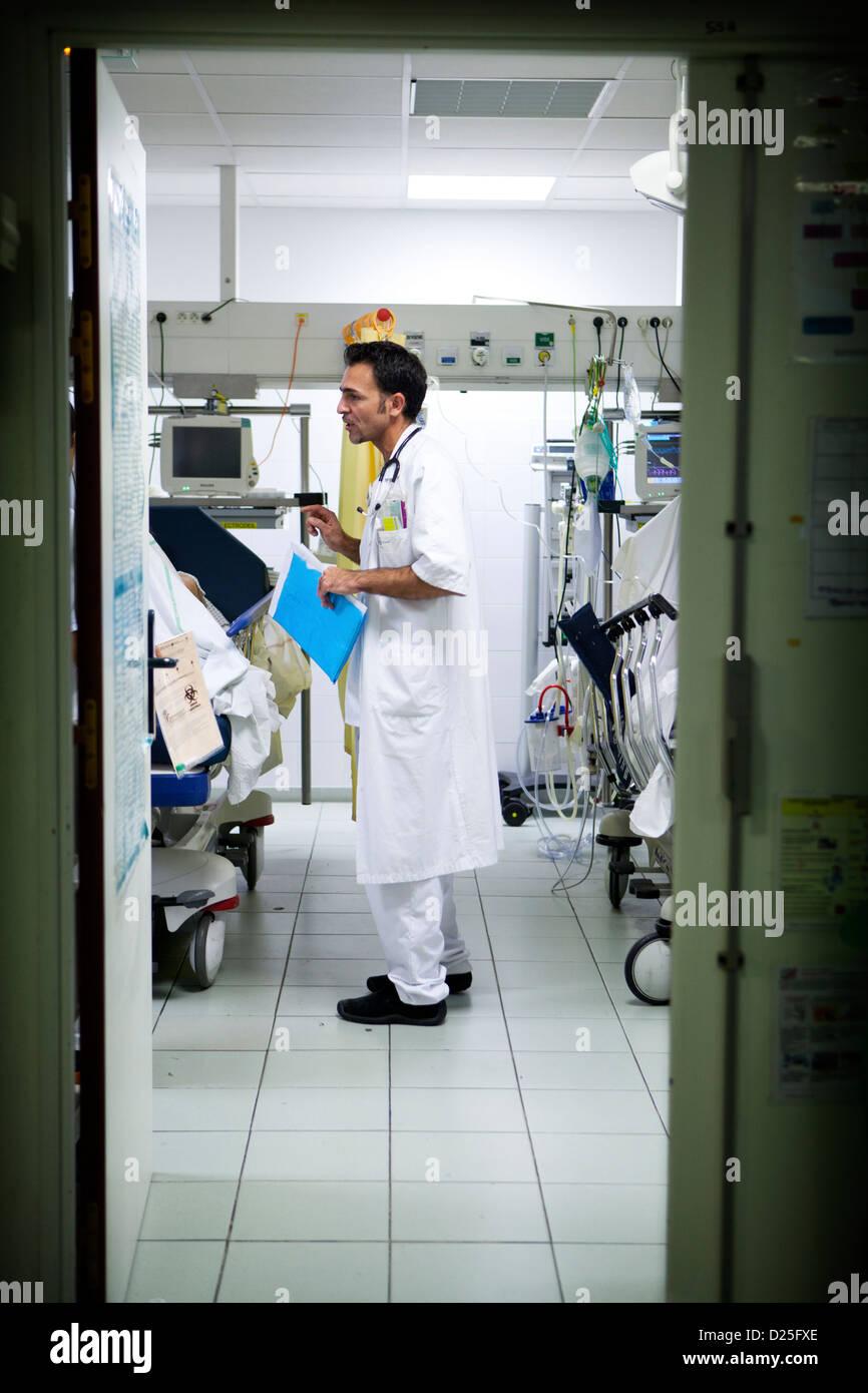 HOSPITAL EMERGENCY - Stock Image