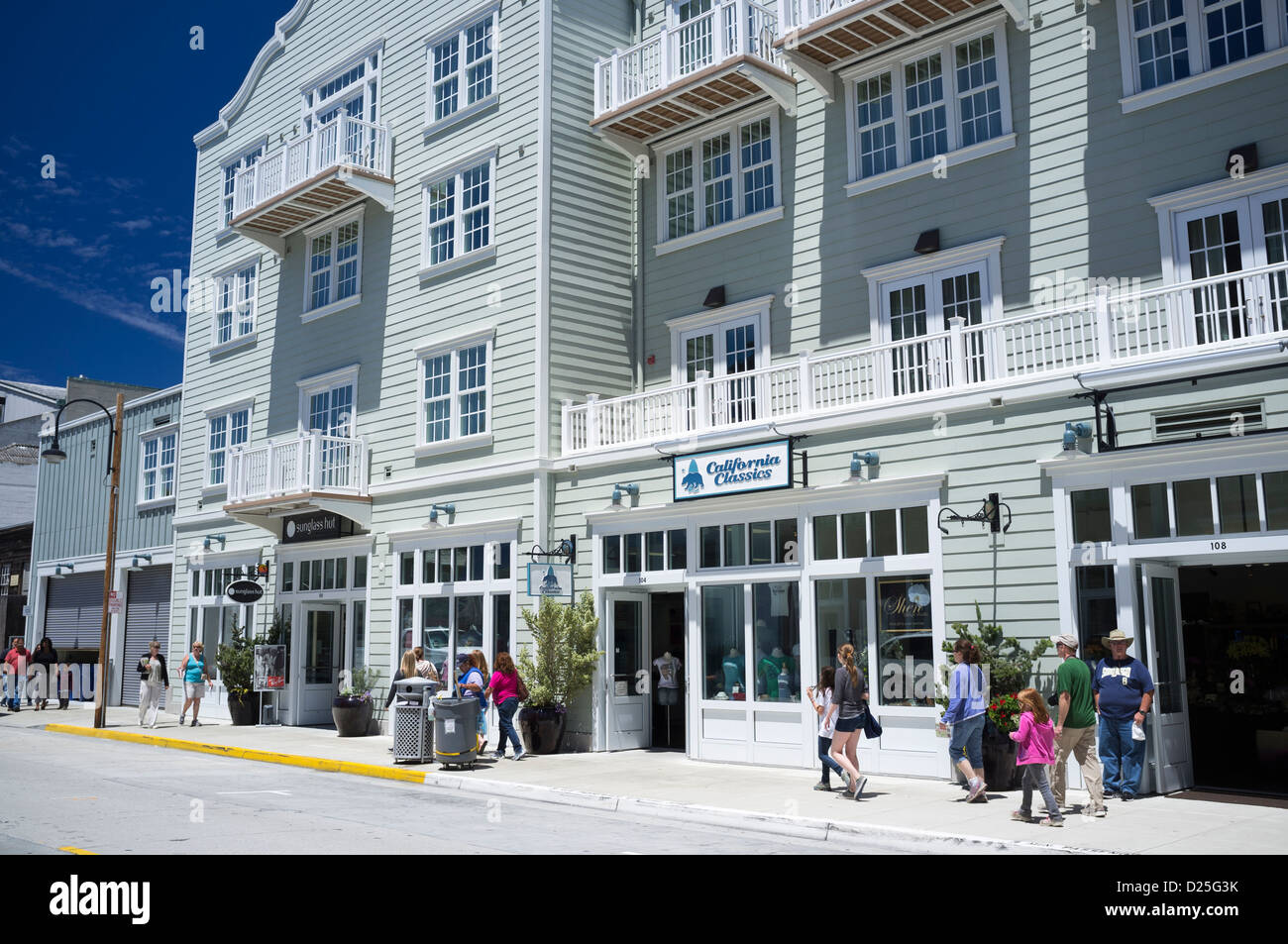 Cannery Row Monterey Bay waterfront - Stock Image