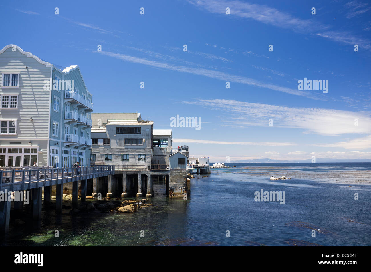 Sea Front Cannery Row Monterey Bay - Stock Image