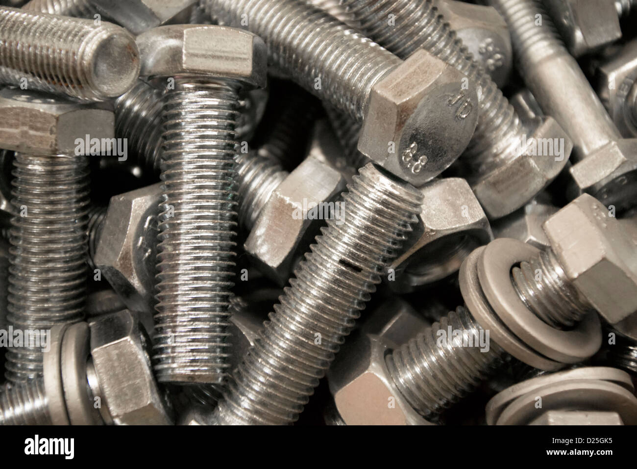A bunch of fasteners Stock Photo