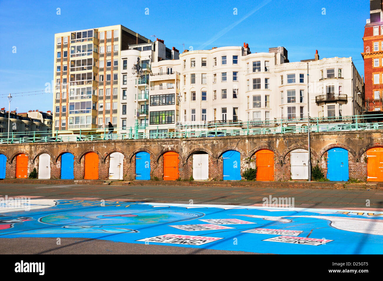 King's Road Arches on Brighton seafront, East Sussex, UK Stock Photo