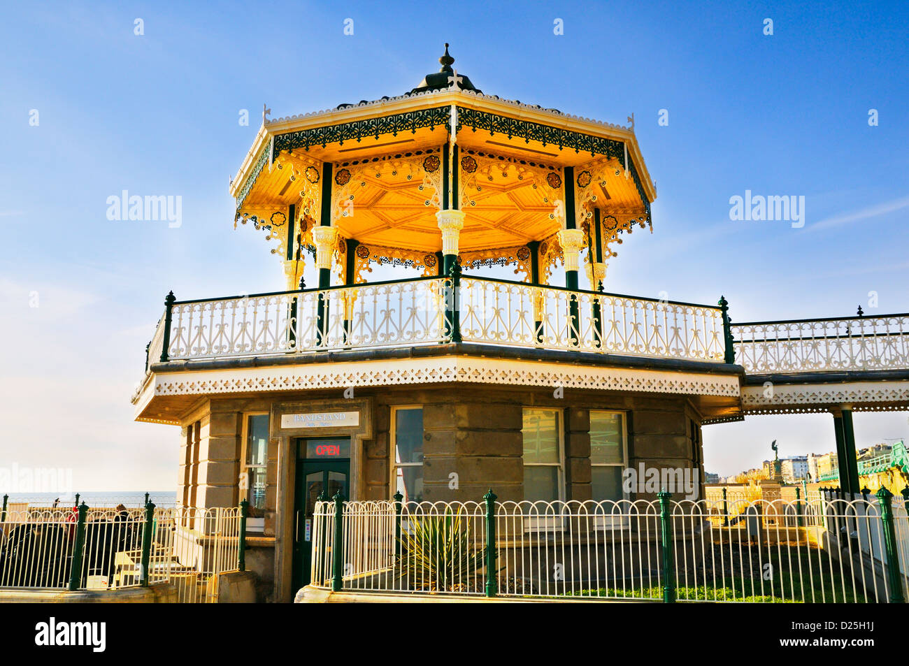 Brighton Bandstand, Brighton and Hove, East Sussex, UK - Stock Image