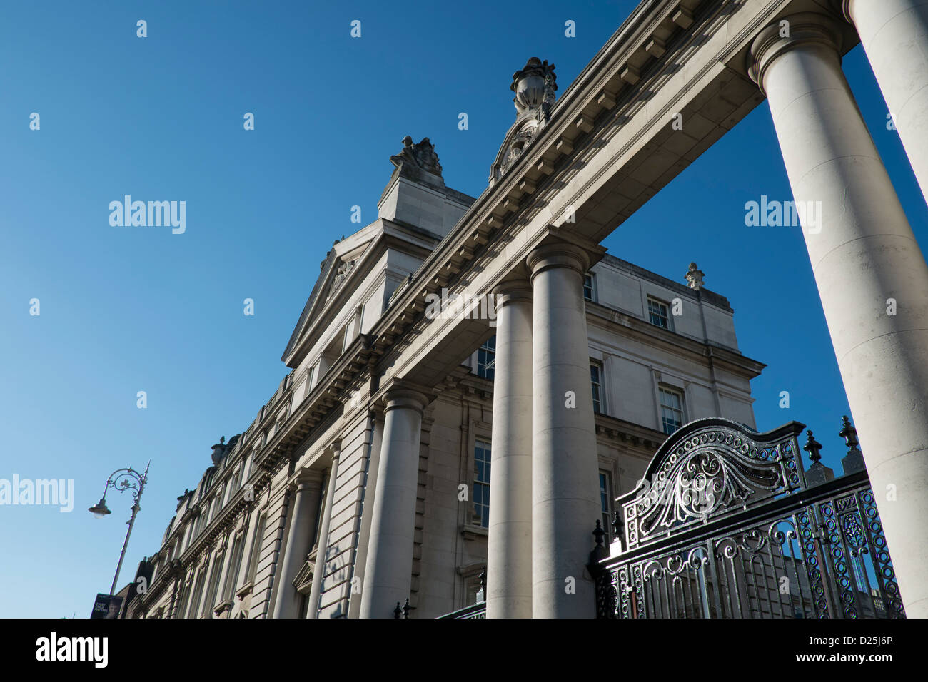 Leinster House National Parliament building for Republic of Ireland Stock Photo