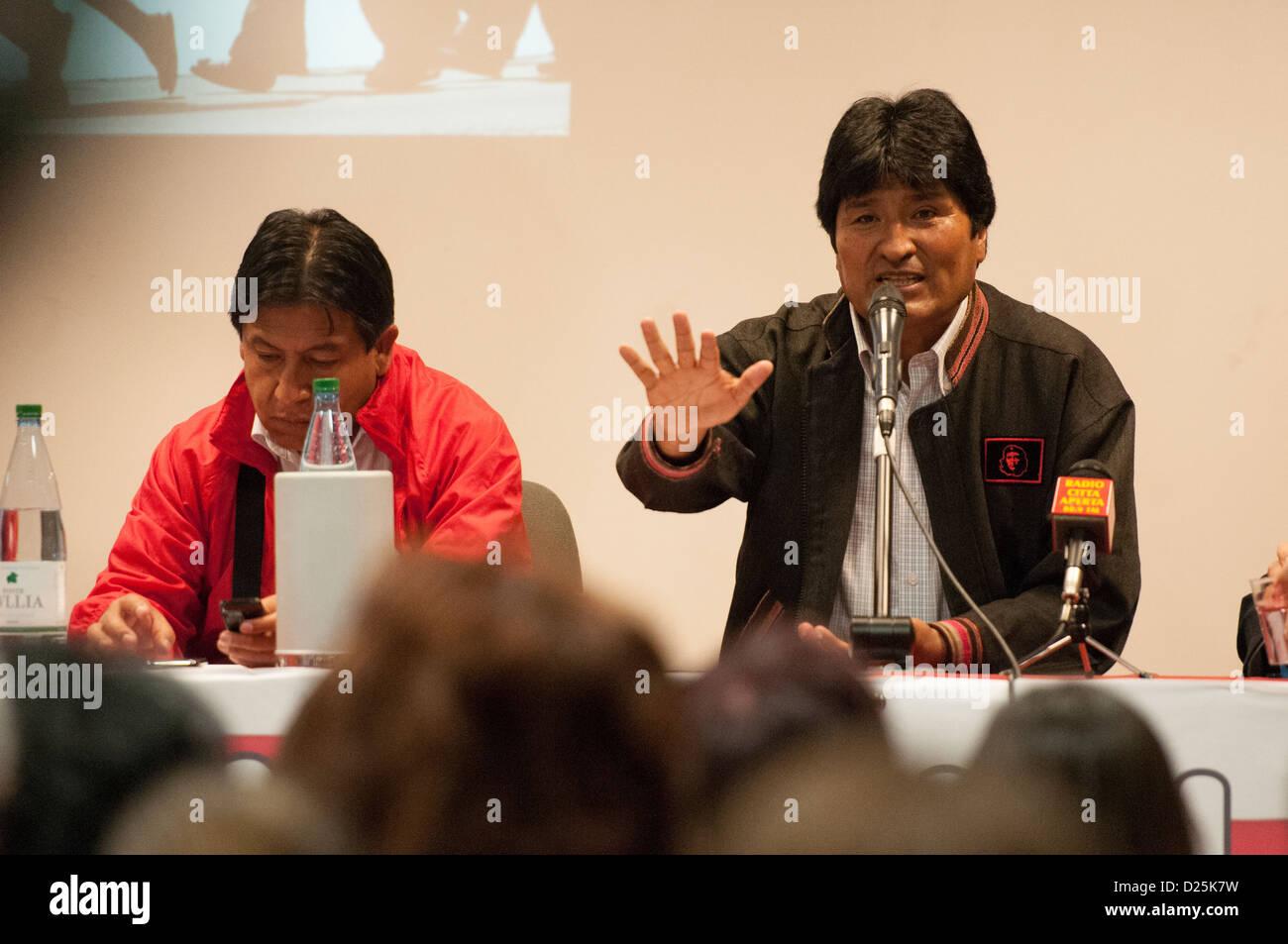 Bolivia President Evo Morales, in Rome, Italy, 11-06-2012 - Stock Image