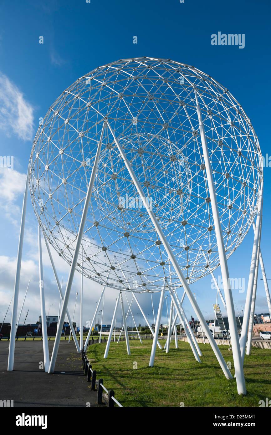 Belfast Sculpture RISE by artist Wolfgang Buttress - Stock Image