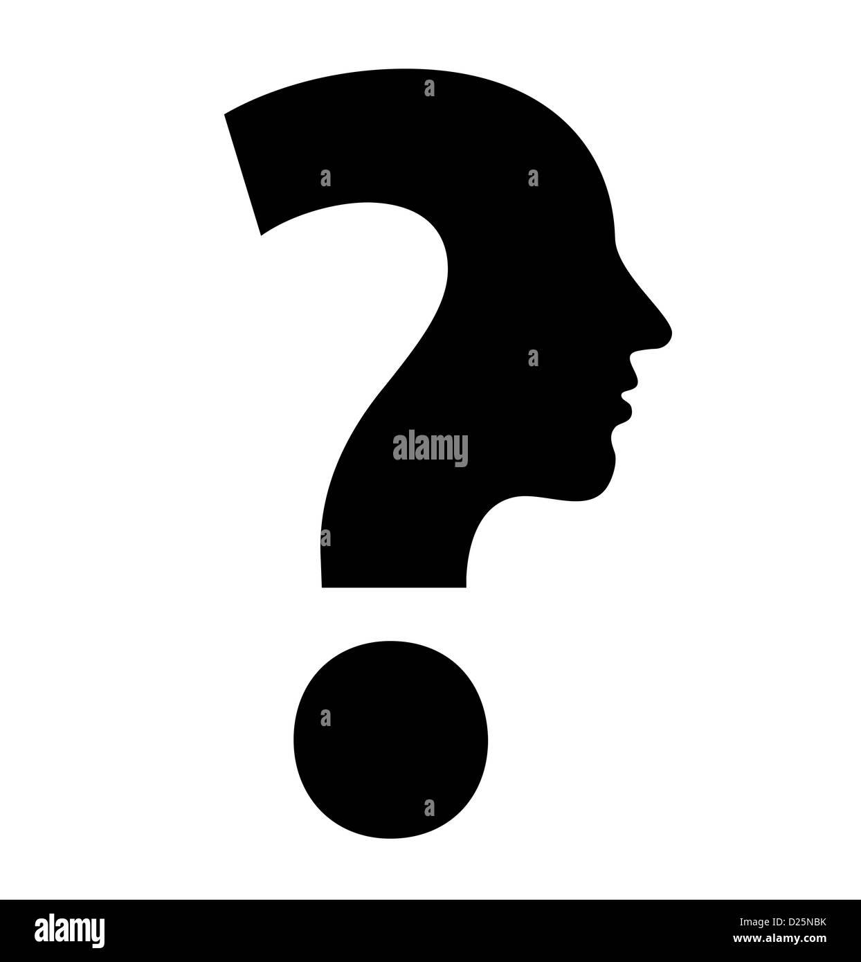 creative question mark - Stock Image