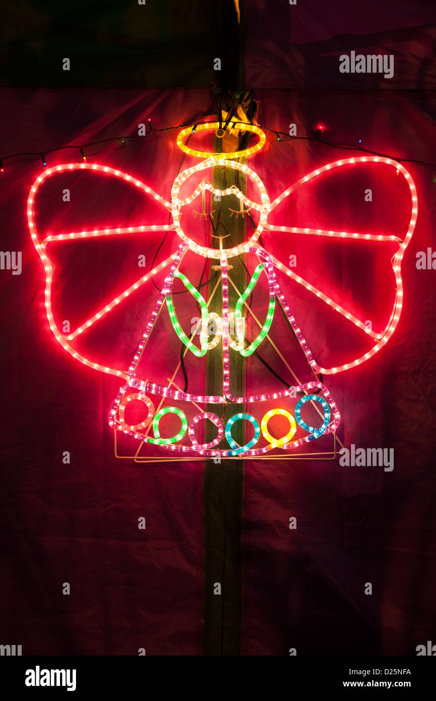 neon Angel - Stock Image