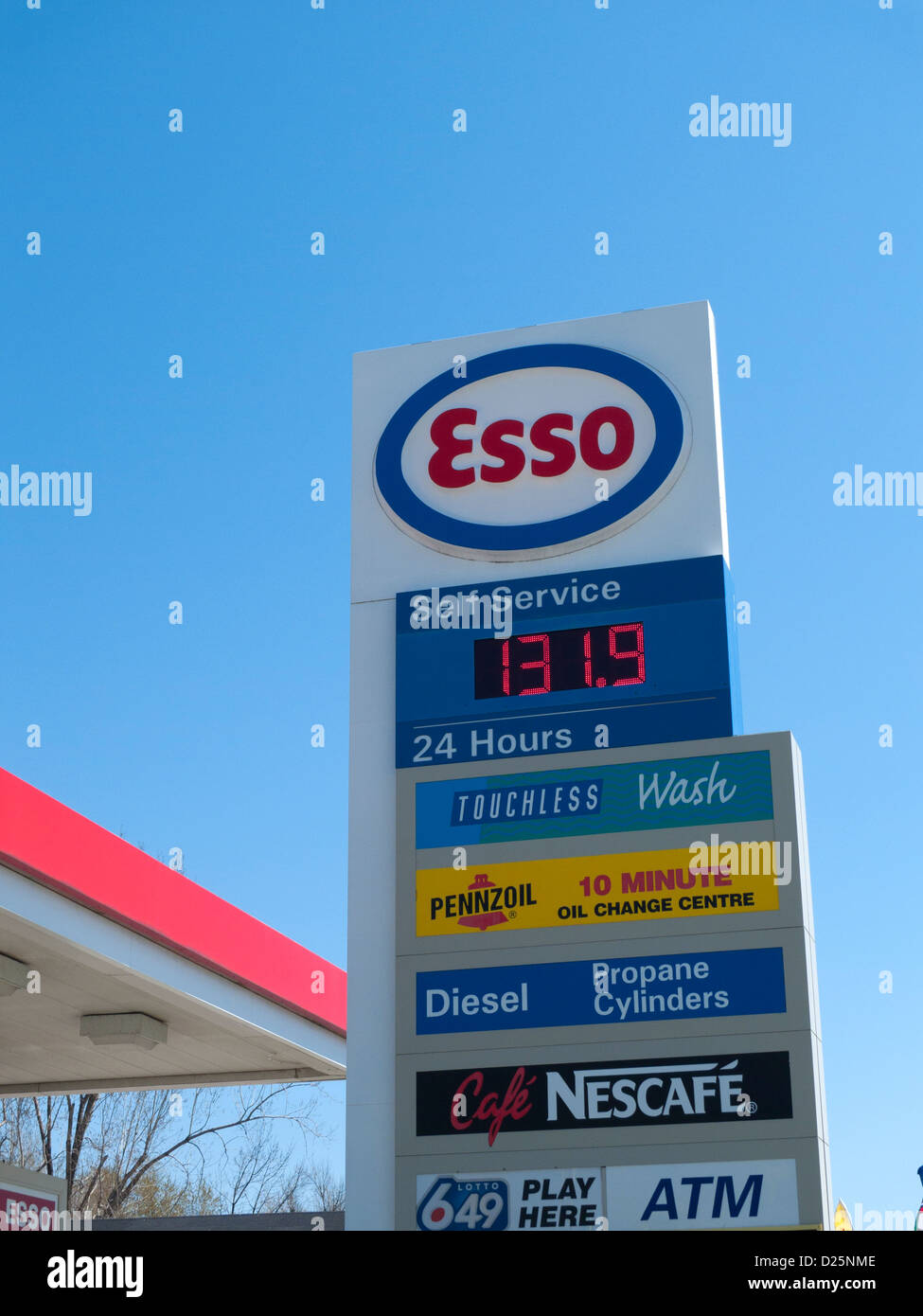24 Hour Oil Change >> 24 Hour Esso Gas Station Sign Outside A Petrol Station