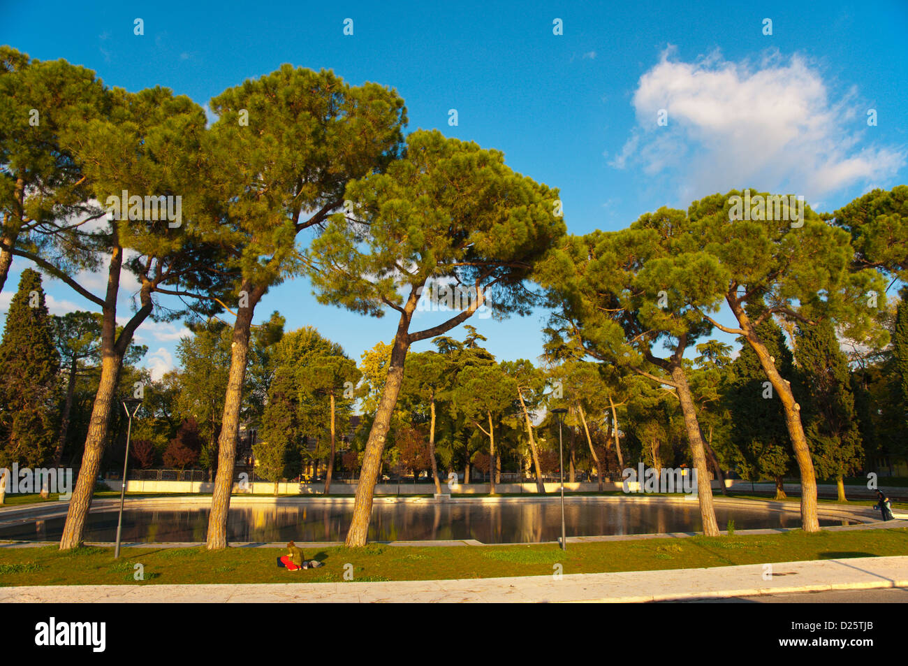 Giardini Pubblici Arsenale park central Verona city the Veneto region Italy Europe - Stock Image