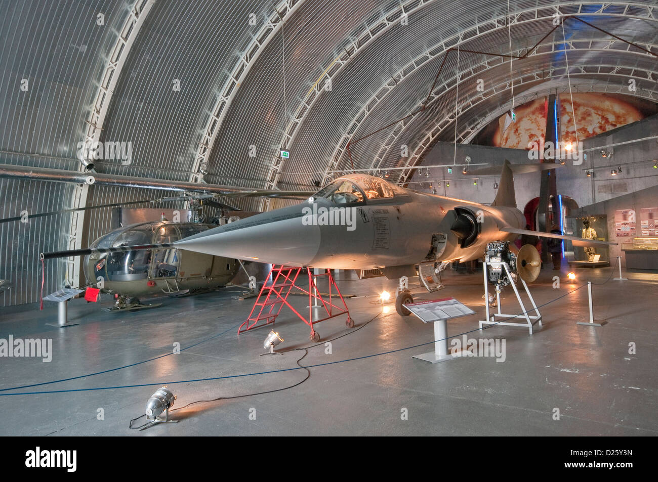 Lockheed F-104S ASA-M Starfighter, US jet fighter, Polish Aviation Museum in Krakow, Poland - Stock Image