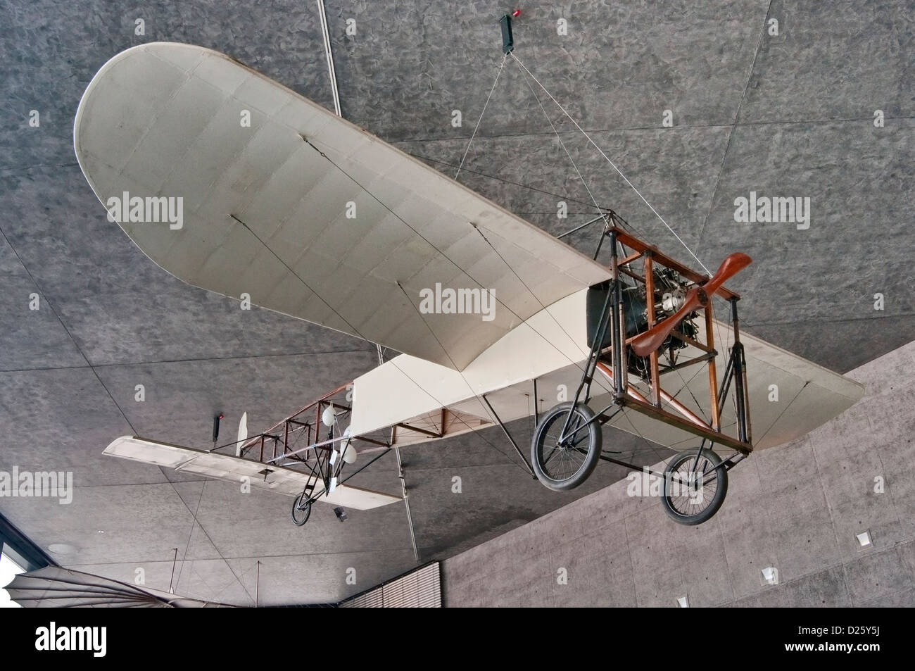 1909 Bleriot XI replica, Polish Aviation Museum in Krakow, Poland - Stock Image