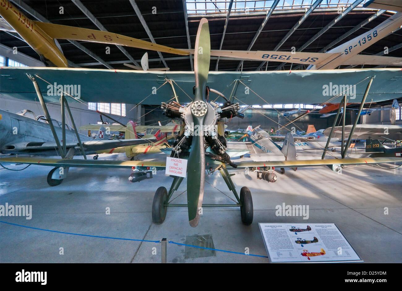 Polikarpov Po-2, WW2 general-purpose Soviet biplane, Polish Aviation Museum in Krakow, Poland - Stock Image
