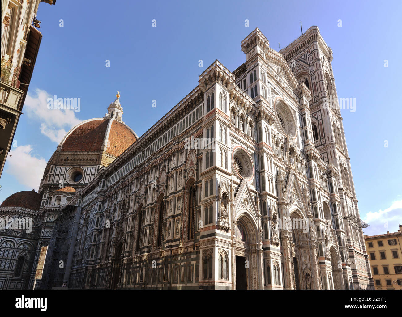 Duomo cathedral is one of the most famous landmark in Florence, Italy - Stock Image