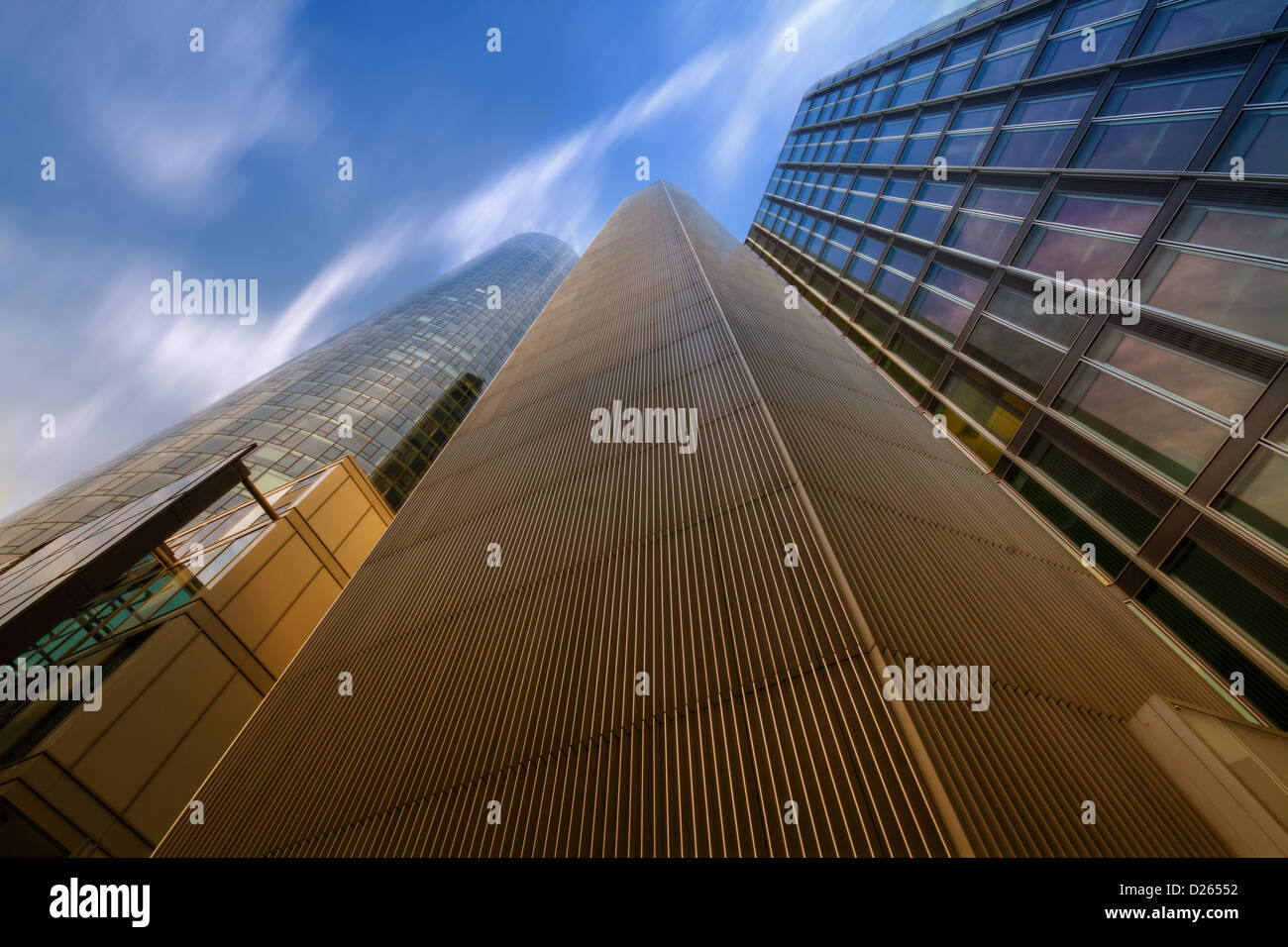 Lofty Heights: Converging Lines - Stock Image