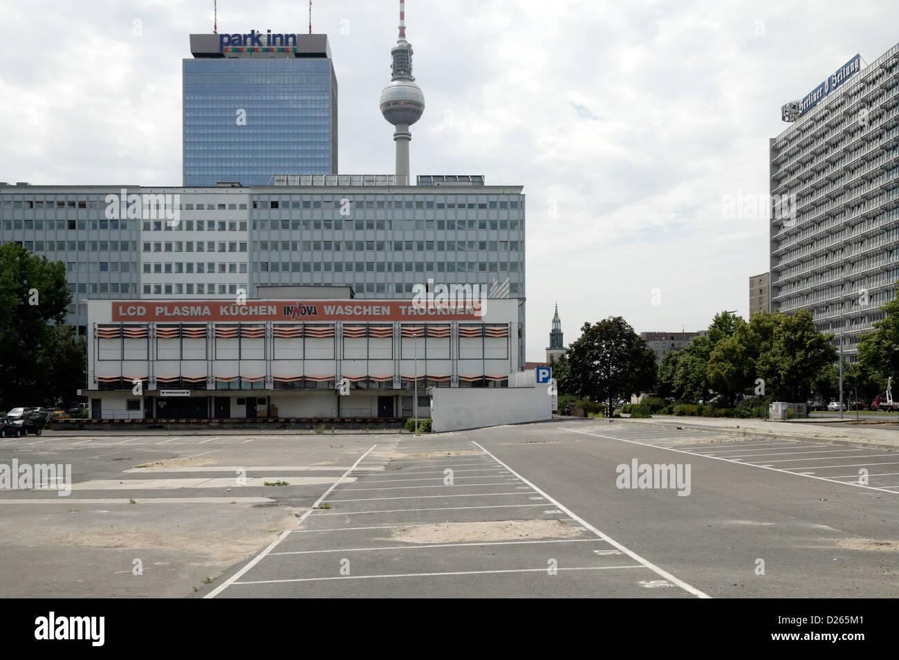 Küchenbau Berlin berlin germany empty parking lot at the karl liebknecht strasse