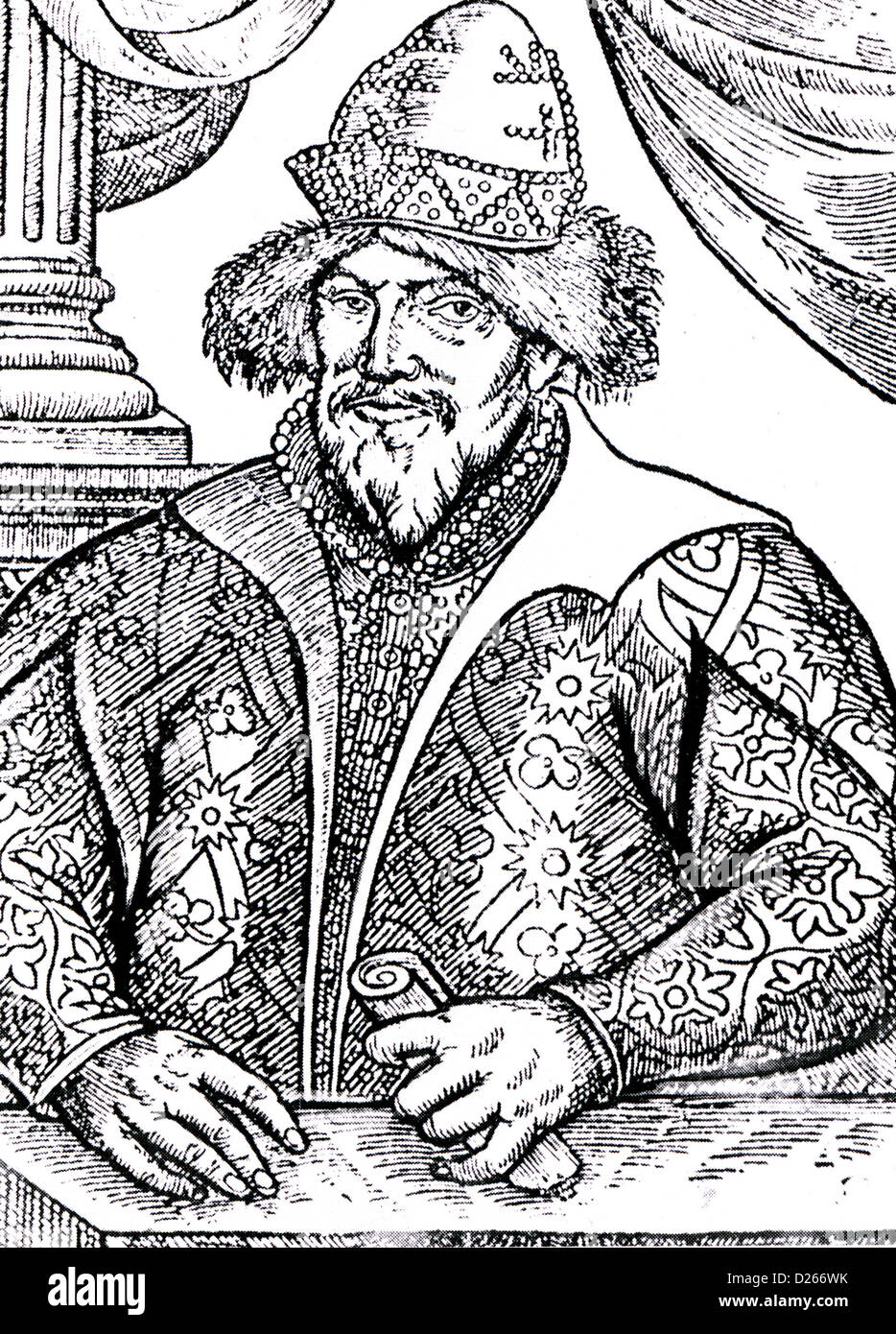 IVAN THE TERRIBLE (1530-1584) Tsar of All the Russias in a contemporary engraving - Stock Image