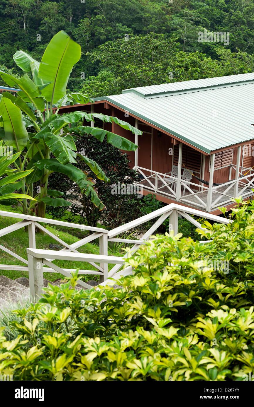 Exterior of guest room building, Casa Grande Mountain Retreat, Utuado, Puerto Rico - Stock Image