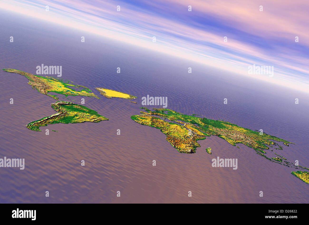 World Topographic Map Stock Photos & World Topographic Map Stock ...