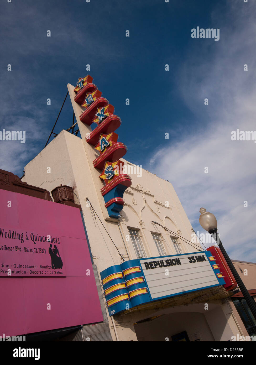Texas Theatre where Oswald entered without paying and was arrested at 2 p.m. on November 22, 1963 - Stock Image