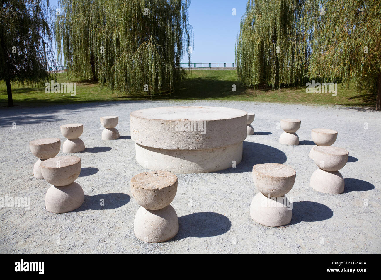The Table of Silence by Constantin Brancusi, Targu Jiu, 1938. It is ... for Brancusi Table Of Silence  166kxo