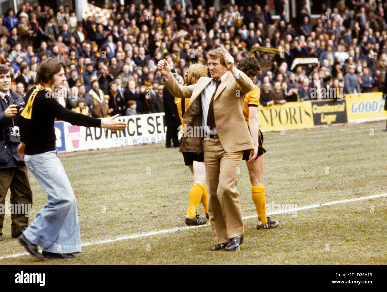 John Barnwell manager of Wolverhampton Wanderers after losing to Arsenal in FA CUP semi final 1979 - Stock Image