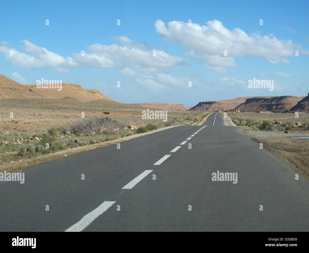 Road in the Sahara Desert - Stock Image