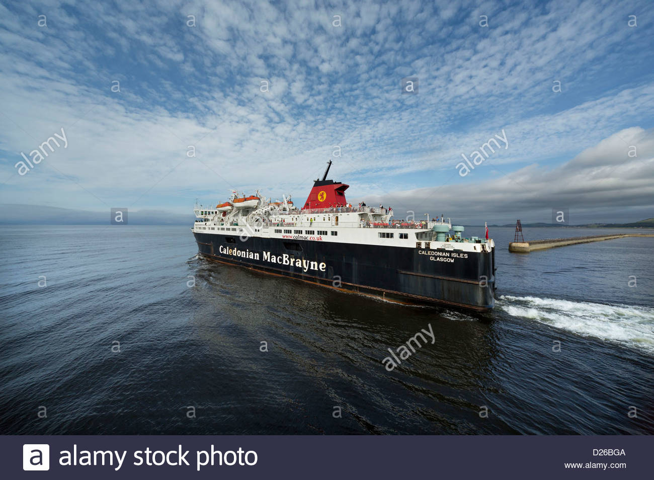 The MV Caledonian Isles (on the route Ardrossan to Brodick, Isle of Arran) Caledonian MacBrayne ferry - Stock Image