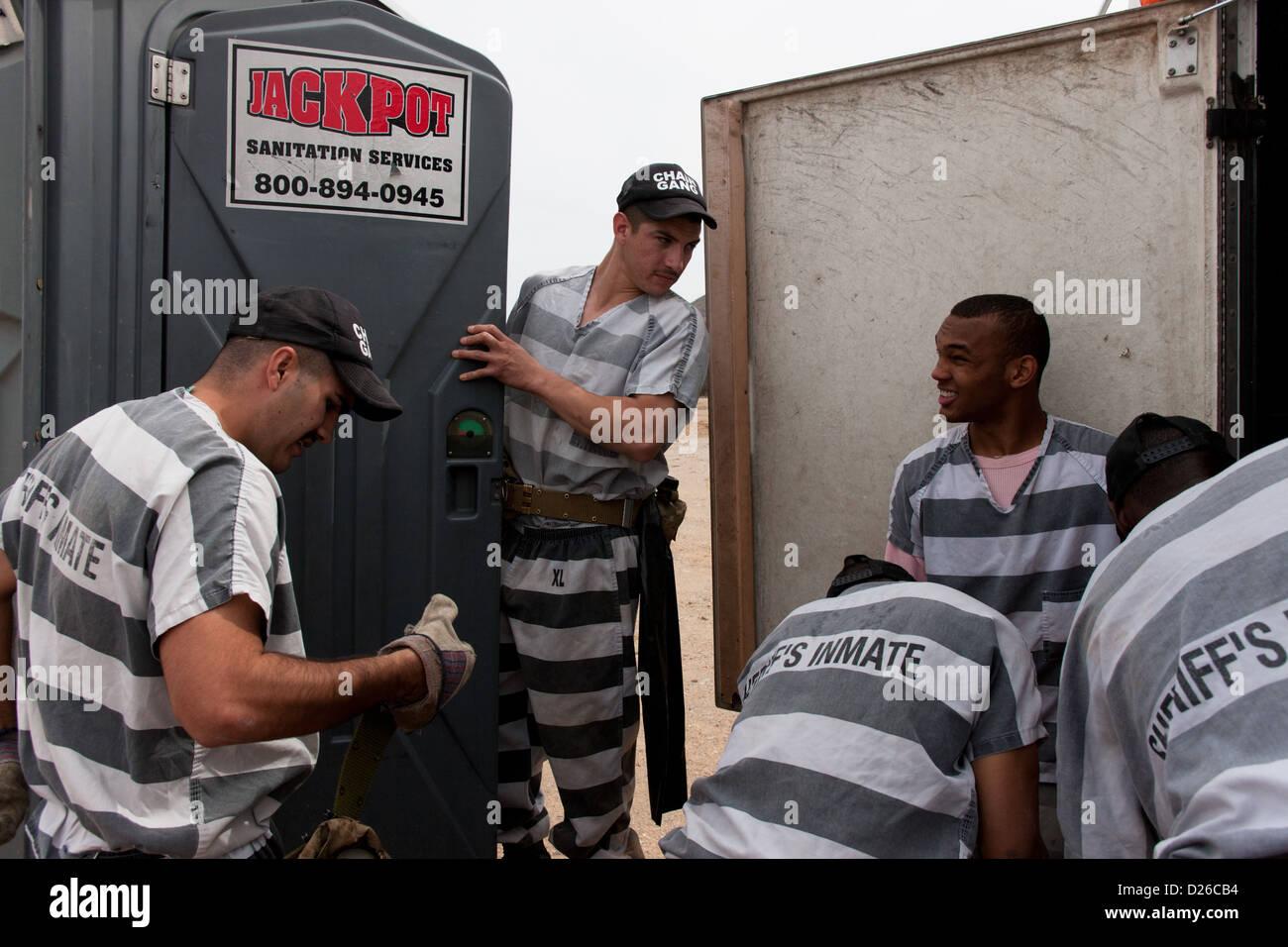 The chain gang at Maricopa County Jail in Phoenix Arizona