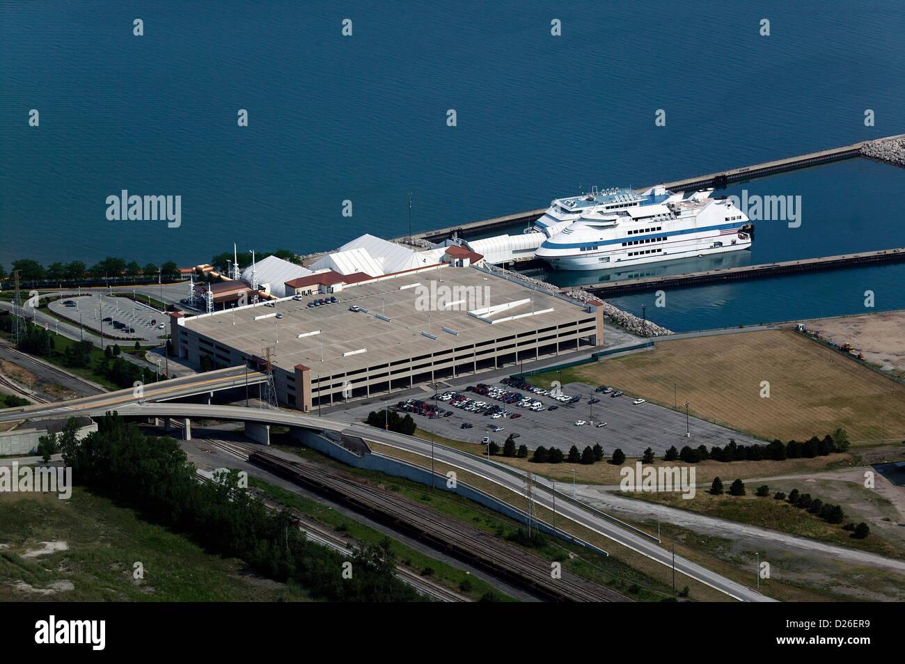 aerial photograph Magestic Star Casino, Gary, Indiana - Stock Image