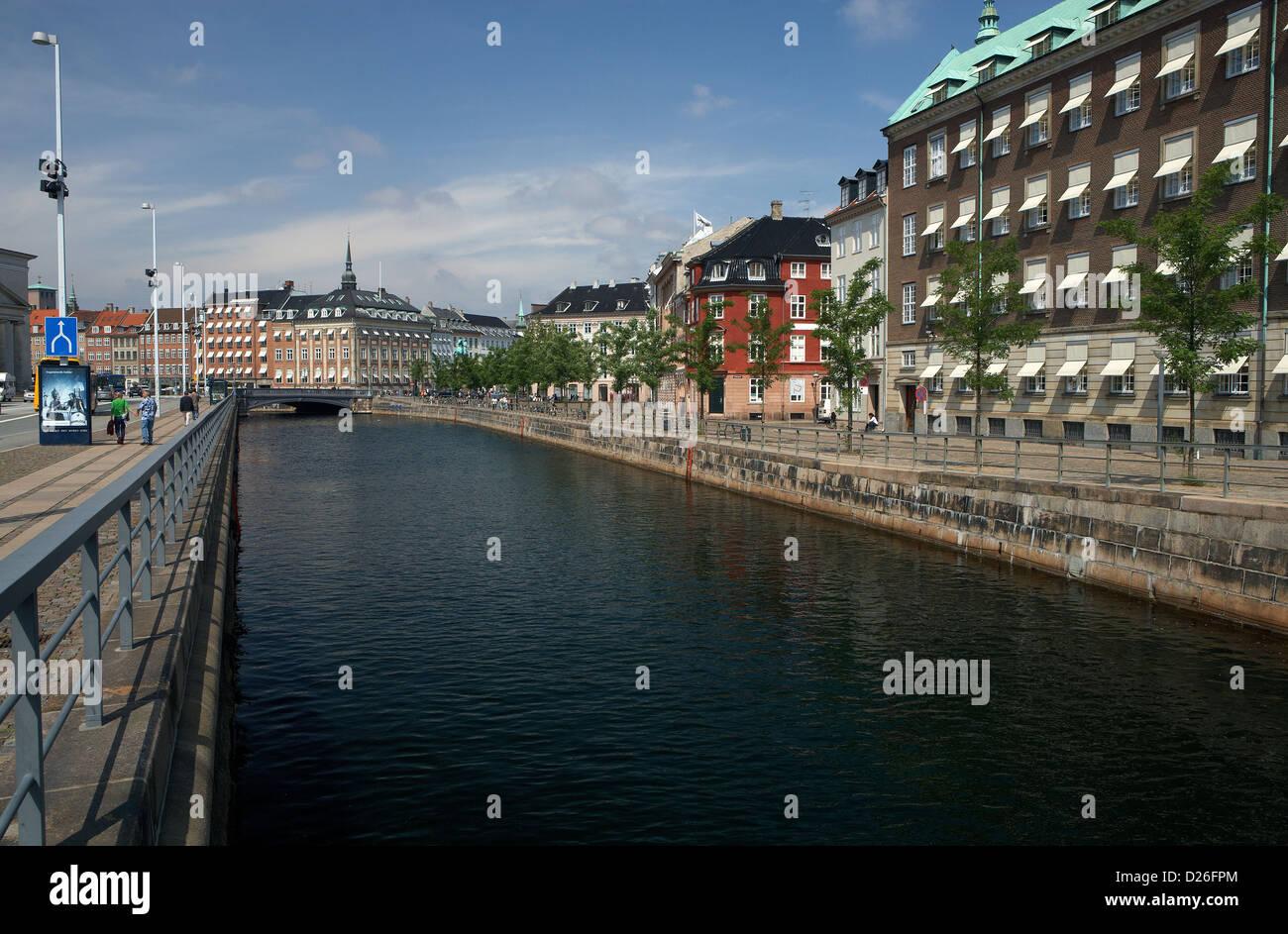 Copenhagen, Denmark, Frederik Kanal at the Ved Stranden - Stock Image