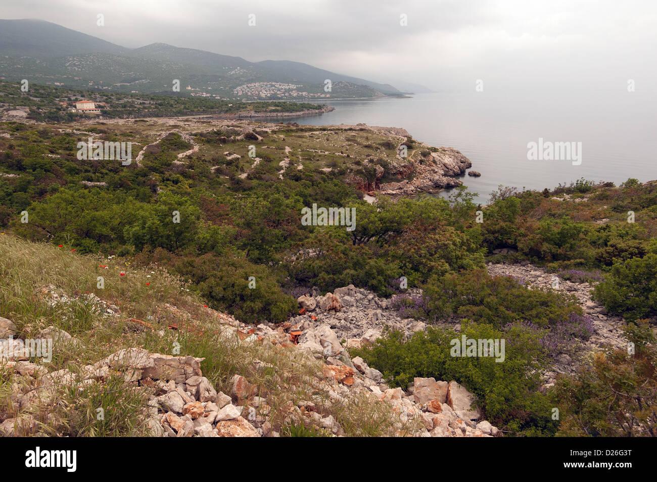 Elk192-2002 Croatia, Zadar, Dalmatian Coast landscape - Stock Image