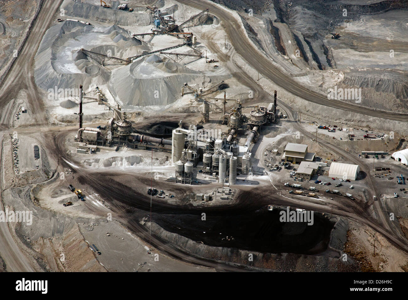 aerial photograph mining Nevada - Stock Image