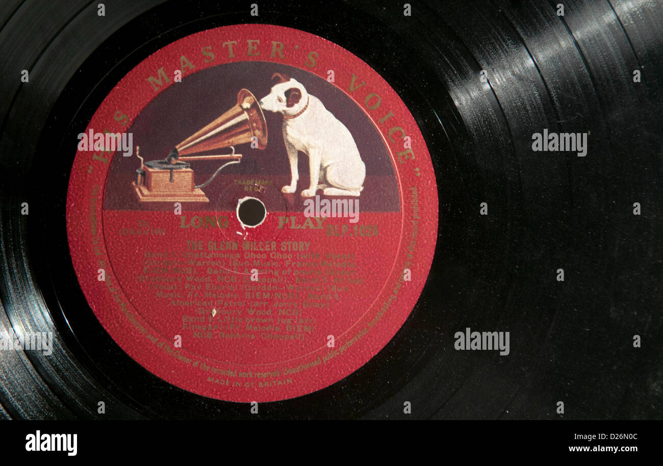 Glenn Miller Story Old Lp Record With Hmv Logo Stock Photo 53008604