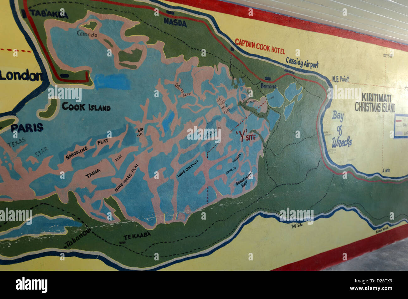 Map Of Christmas Island Kiribati Stock Photo 53011681 Alamy