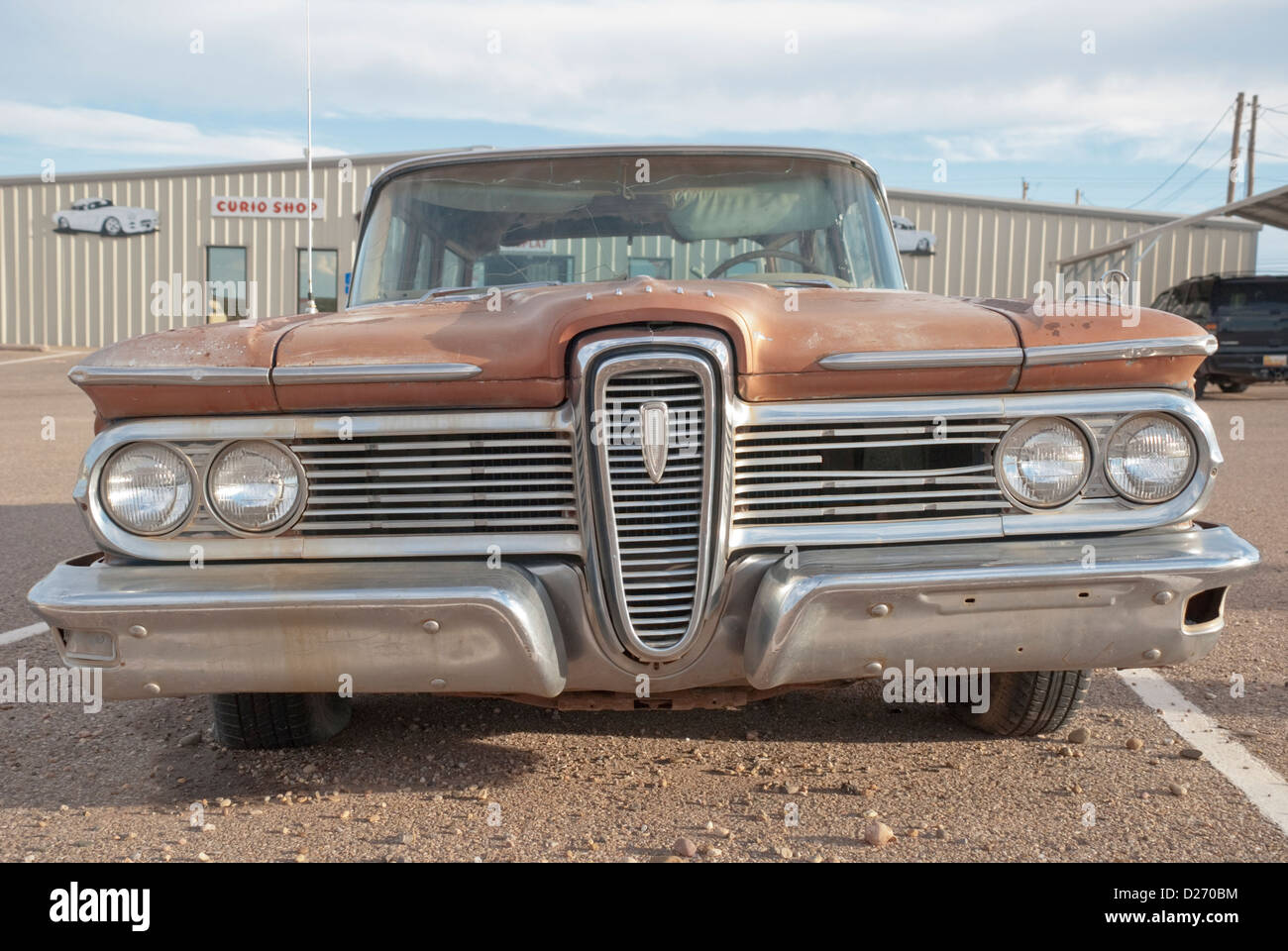 Rare old cars like this are well preserved in New Mexico climate ...