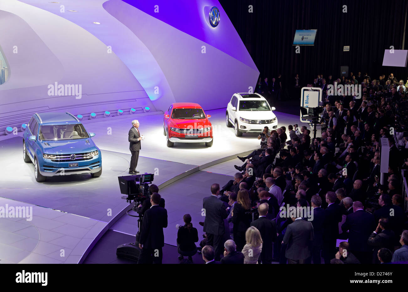 The HANDOUT picture shows a series of three concept cars of Volkswagen (VW), the CrossBlue (L-R), a Cross Coupe - Stock Image