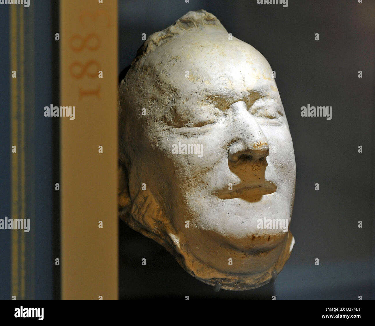 The death mask of Richard Wagner is on display in the new Richard-Wagner Museum located in the refurbished hunting - Stock Image