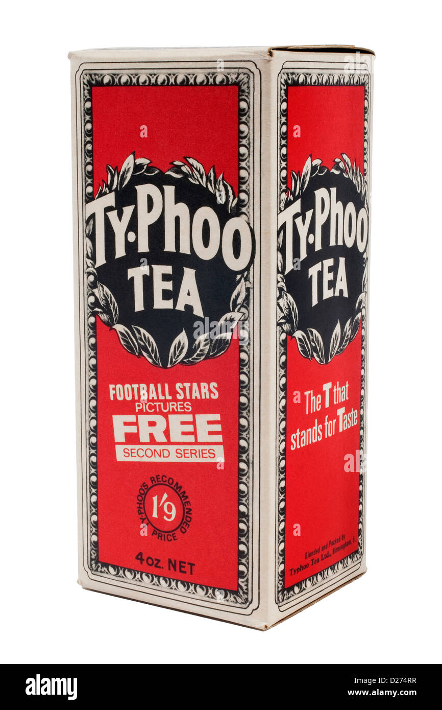 1969 Typhoo Tea box with International Football Stars picture card promotion Stock Photo