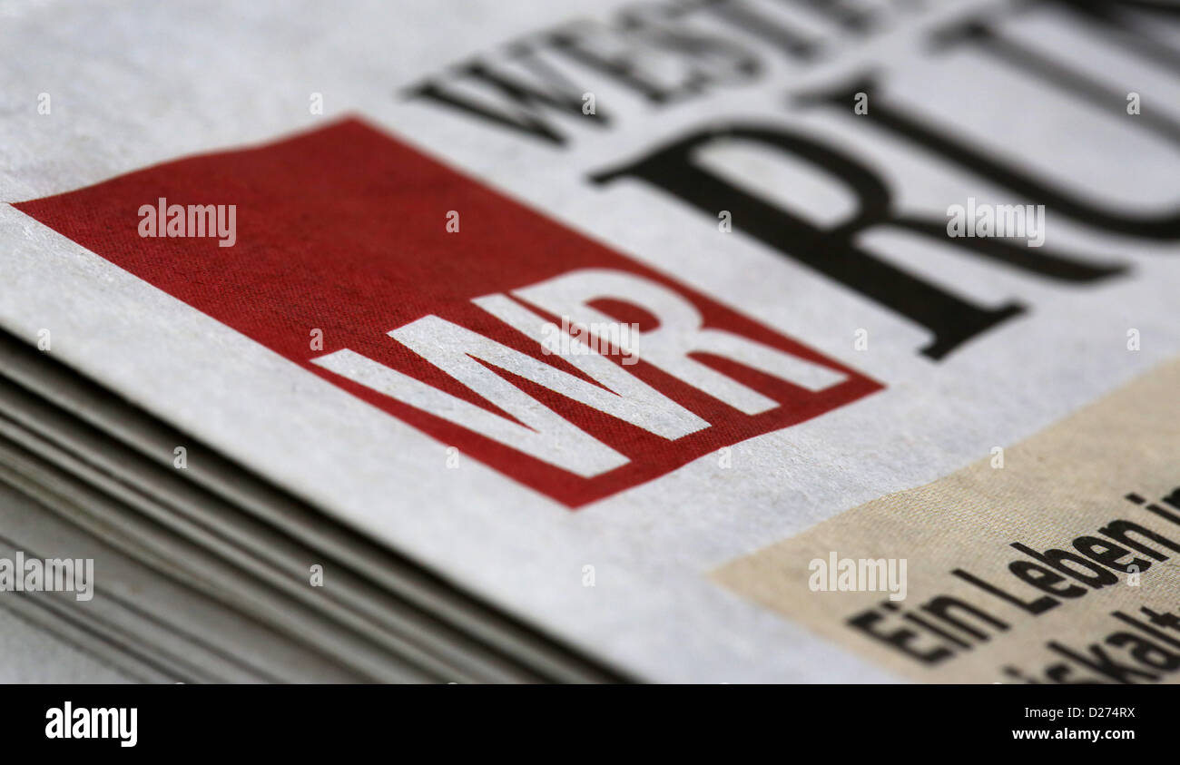 ILLUSTRATION - A view on newspapers of the media group WAZ in Duesseldorf, Germany, 15 January 2013. WAZ cuts 120 - Stock Image
