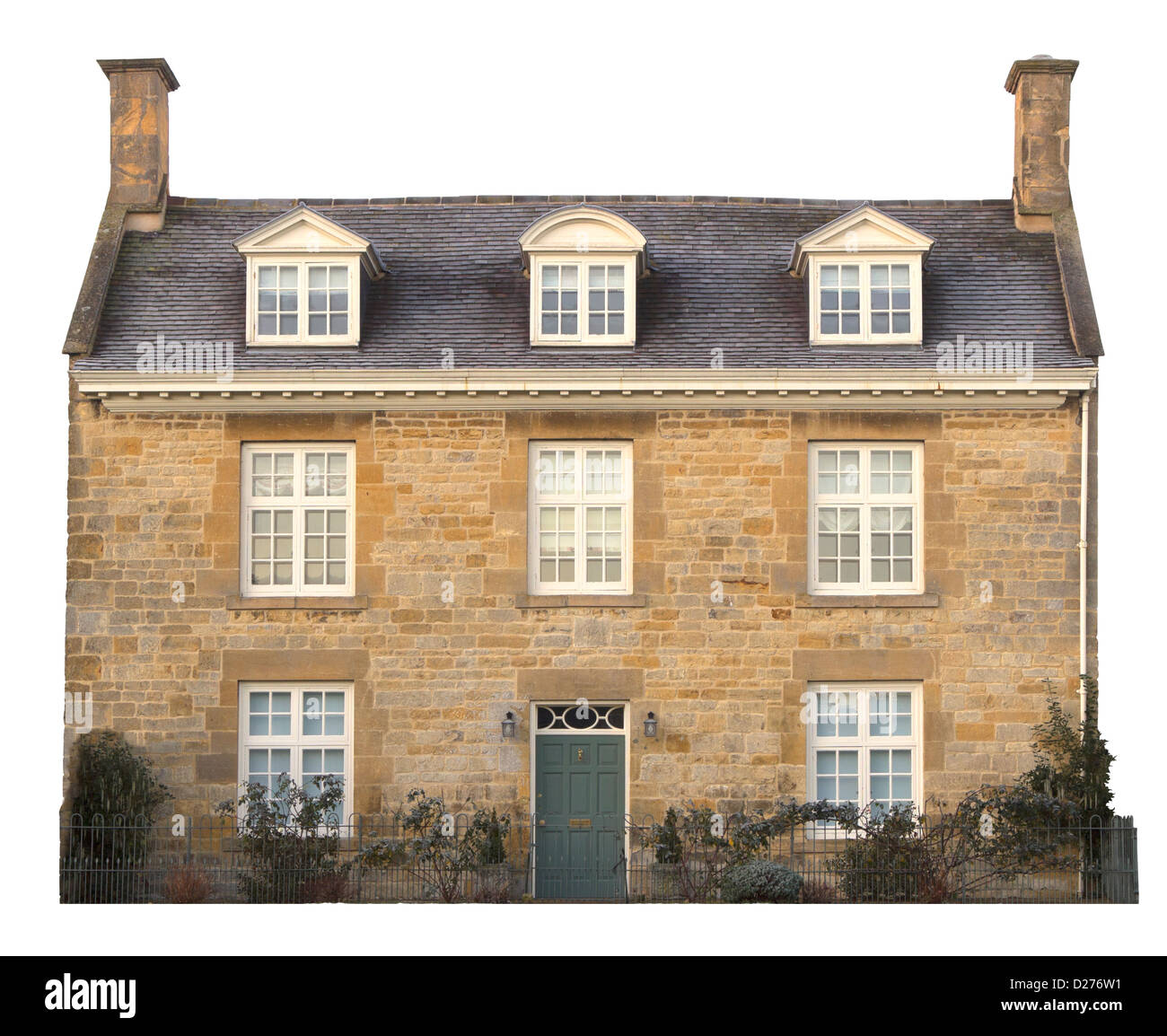 Cotswold house cut-out, England - Stock Image