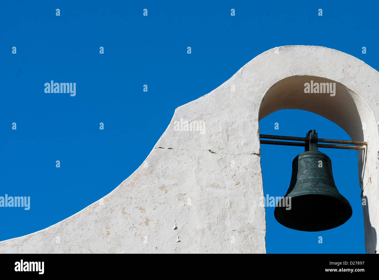 Spanish style church bell - Stock Image