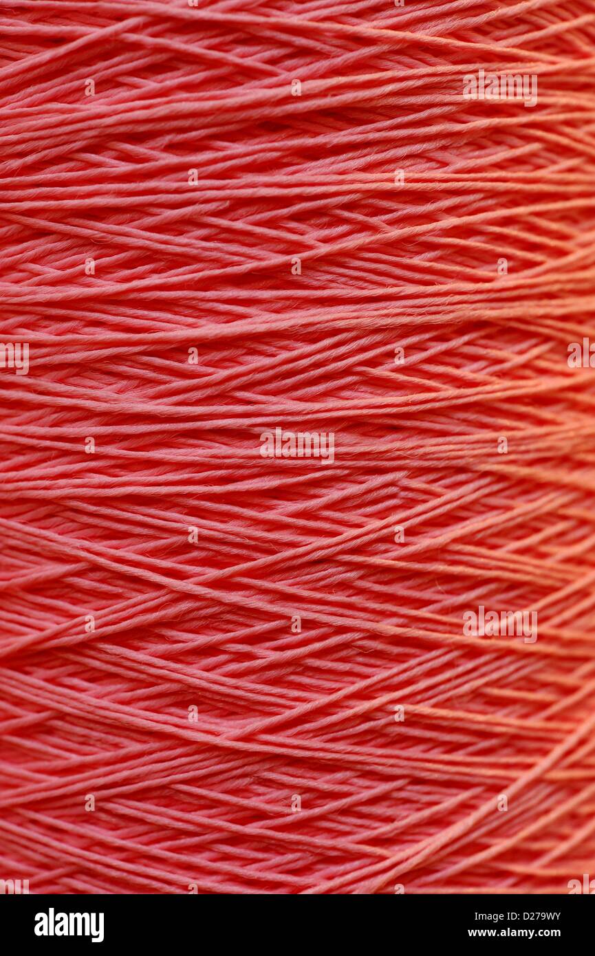 Pink Carpet yarn. Photo: Frank May - Stock Image