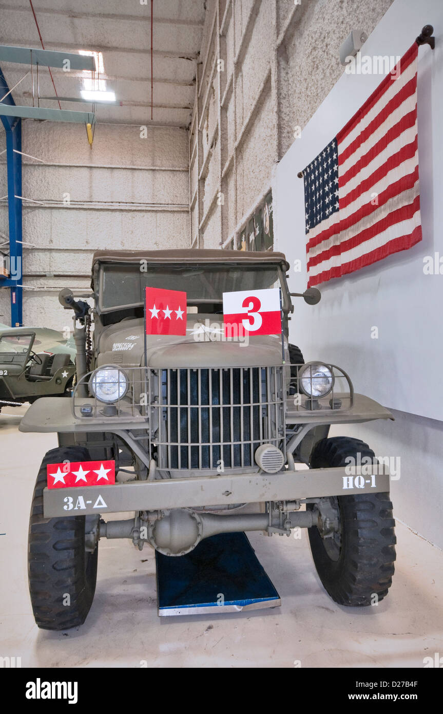 1941 Dodge Command Car, restored to represent Dodge WC-57, used by Gen Patton, Lone Star Flight Museum, Galveston, - Stock Image