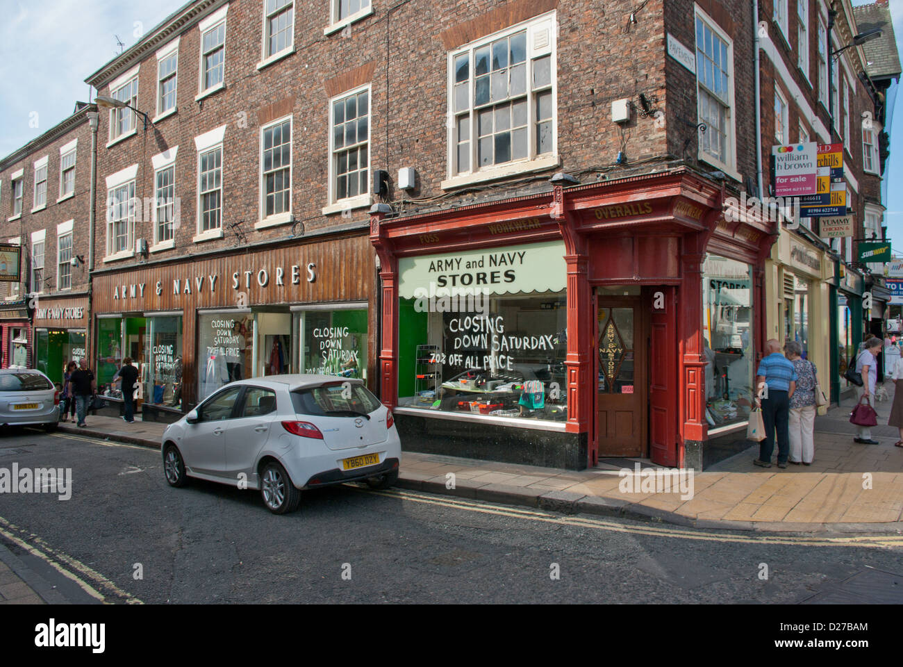Army and Navy Stores York, retailer of work and outdoor clothes - Stock Image