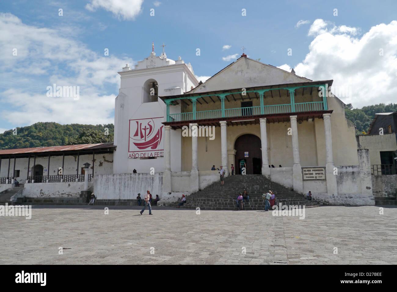 The catholic church at Santiago de Atitlan.. - Stock Image